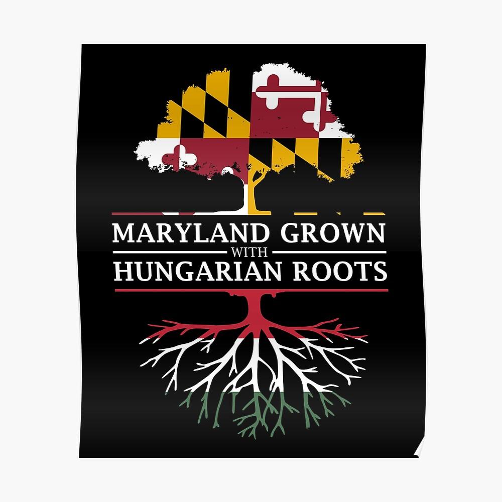 Maryland crecido con raíces húngaras Póster