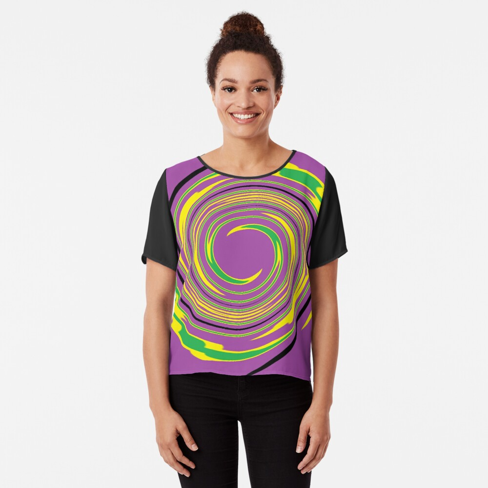 #vortex, #design, #spiral, #creativity, fun, illustration, shape, color image, circle, geometric shape Chiffon Top