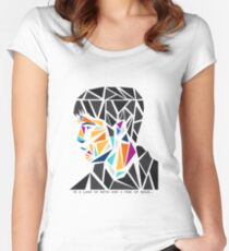 His name, Merlin. Women's Fitted Scoop T-Shirt