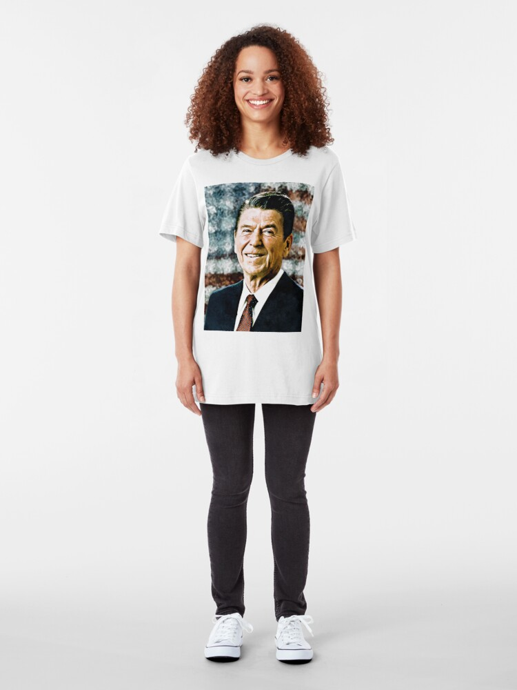 Alternate view of The Great President Ronald Reagan Slim Fit T-Shirt