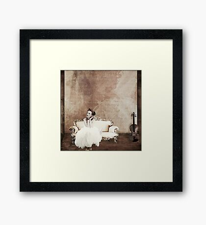 Lady in Waiting... Framed Print