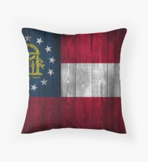 Georgia State Flag (Holzoptik) Dekokissen
