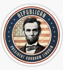 Republican President Abraham Lincoln Sticker