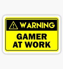 Warning - Gamer at work Sticker