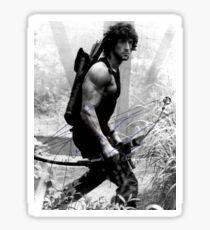 Rambo Stallone Autographed Photo B/W 1980's Sticker
