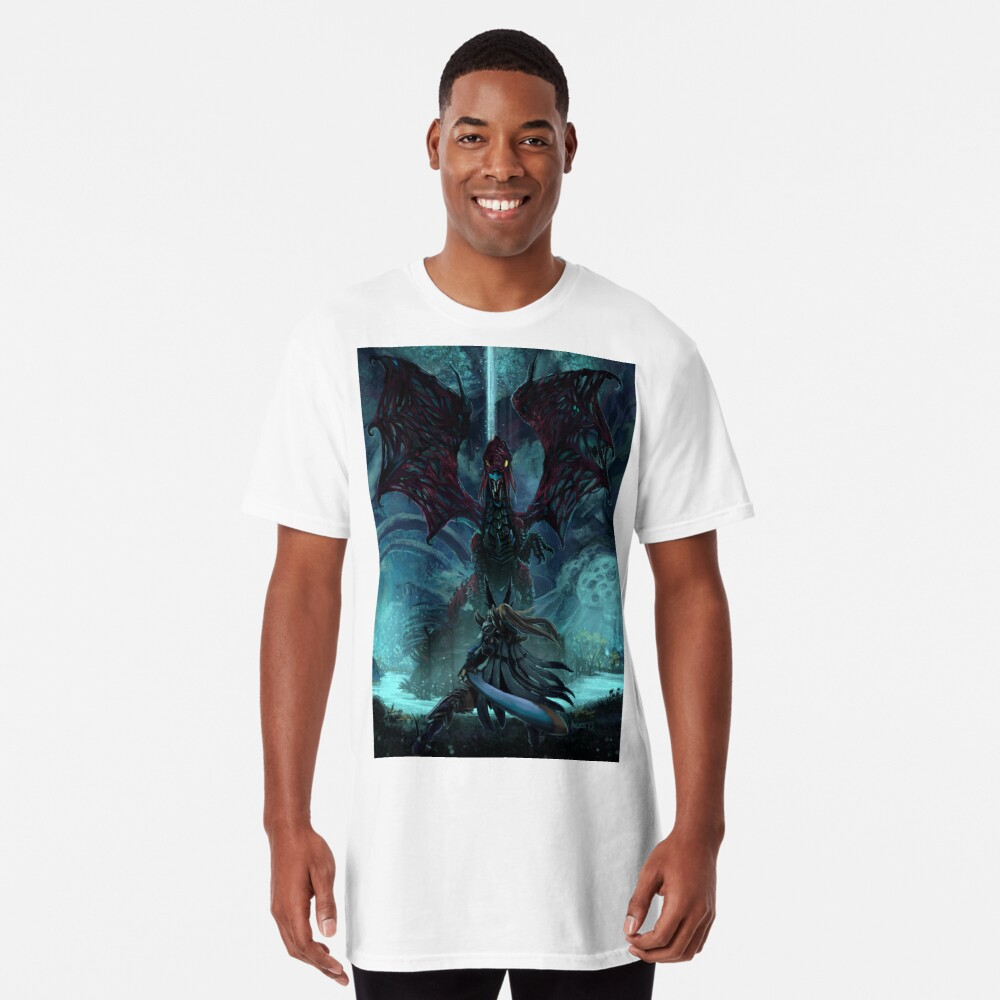 Death Lurks in the Light of the Darkness [Monster Hunter] Long T-Shirt
