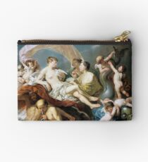 #Art, #illustration, #renaissance, #painting, people, Aphrodite, Venus, cherub, cupid, color image, men, males, women Zipper Pouch