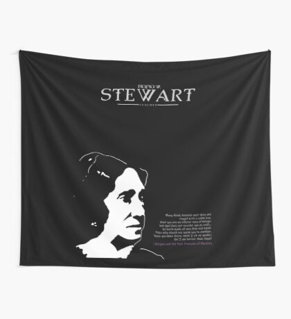 A Quote By Maria W. Stewart Wall Tapestry