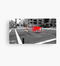 Monogatari – Red Crab Canvas Print