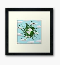 Eco friendly background Framed Print