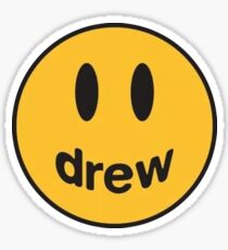 Drew Happy Face Smile T-Shirt Sticker