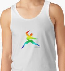 Cross Fit Training Rainbow Light Tank Top