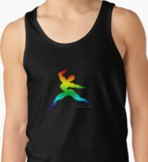 Cross Fit Training  Rainbow Dark Tank Top