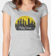 New York (The Cities of Comics) Women's Fitted Scoop T-Shirt