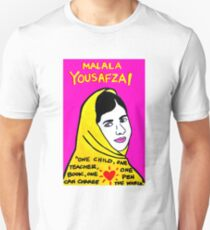 Malala  Yousafzai Pop Folk Art Unisex T-Shirt