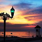 Sunset Over Banderas Bay by Lynnette Peizer