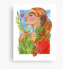 Summer's Last Garden Canvas Print