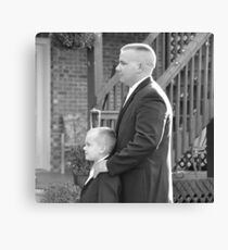 Groom and Son Canvas Print