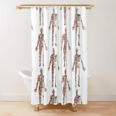 Half Muscle - Half Skeleton Shower Curtain