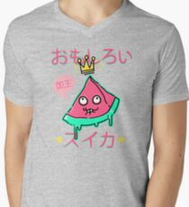 Juicy King Watermelon V-Neck T-Shirt