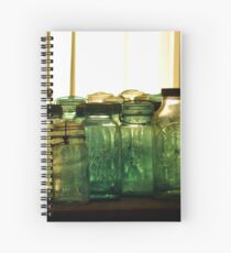 Old Glass Jars and Bottles Spiral Notebook