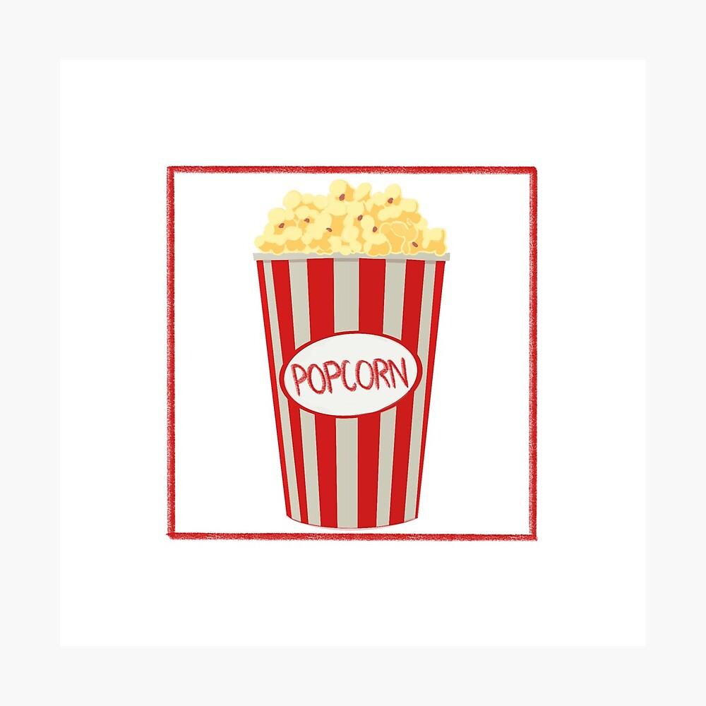 Popcorn Design Photographic Print