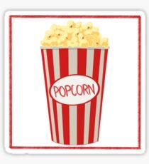 Popcorn Design Sticker