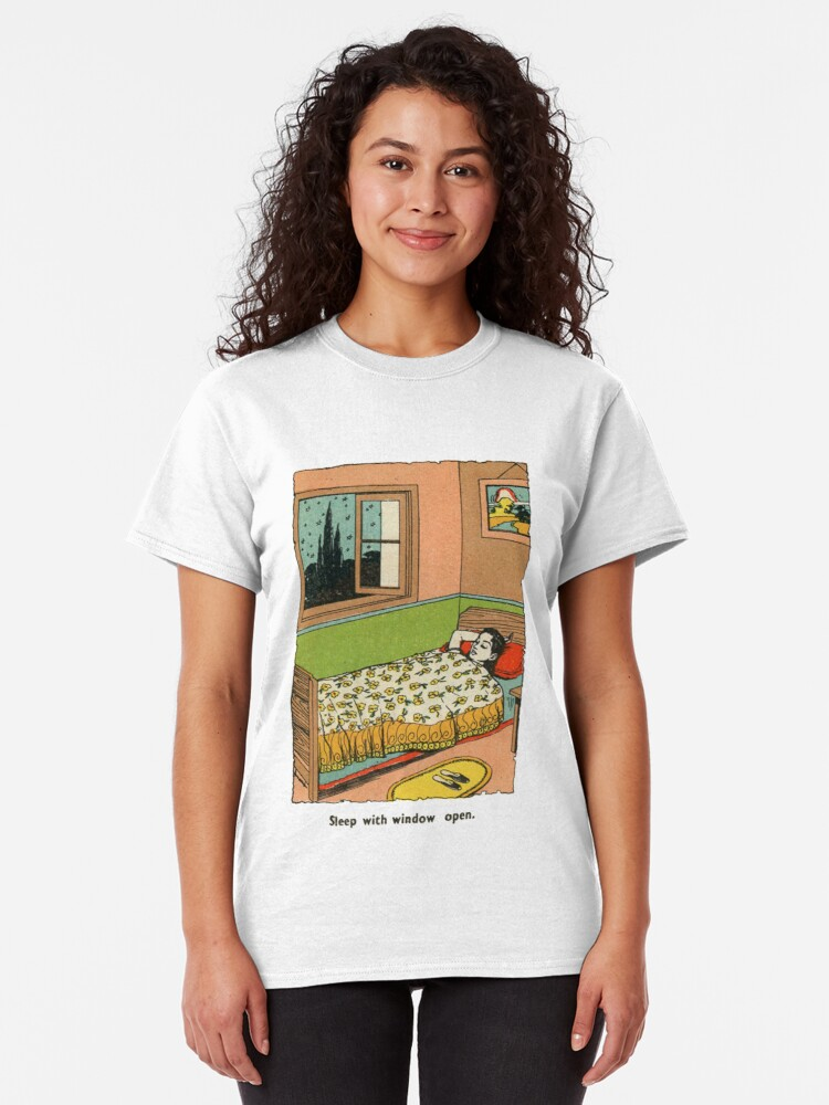 Alternate view of sleep with window open Classic T-Shirt