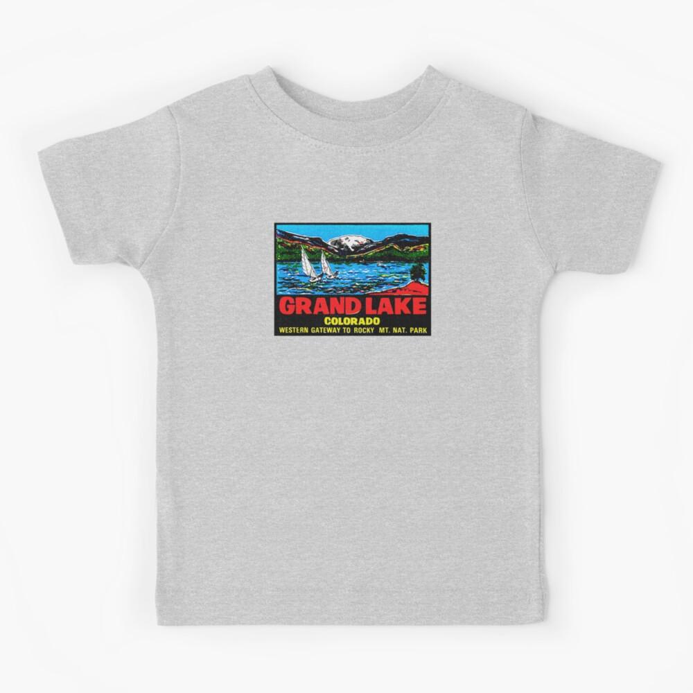 Grand Lake Colorado Vintage Travel Decal Kids T-Shirt
