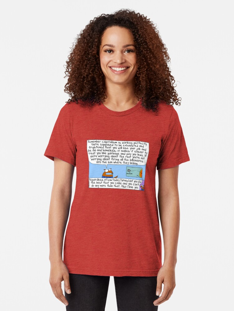 Alternate view of Capitalism is working perfectly Tri-blend T-Shirt