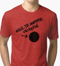 Hole To Another Universe Graffiti (Life is Strange)-- Tilted Tri-blend T-Shirt
