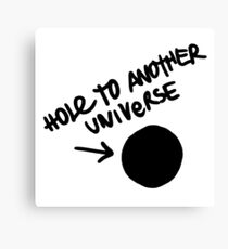 Hole To Another Universe Graffiti (Life is Strange)-- Tilted Canvas Print