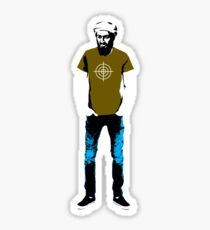 Hipster Bin Laden Sticker