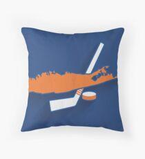 New York Islanders Minimalist Print Throw Pillow