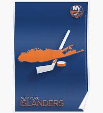 New York Islanders Minimalist Print Poster