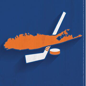 New York Islanders Minimalist Print by SomebodyApparel