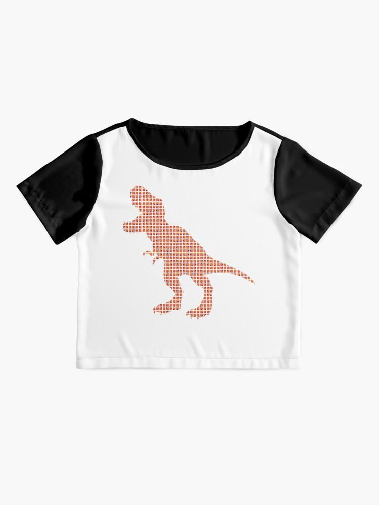 Alternate view of #Dinosaur, #animal #figure, line #art, tail, znamenski, point, symbol, illustration Chiffon Top