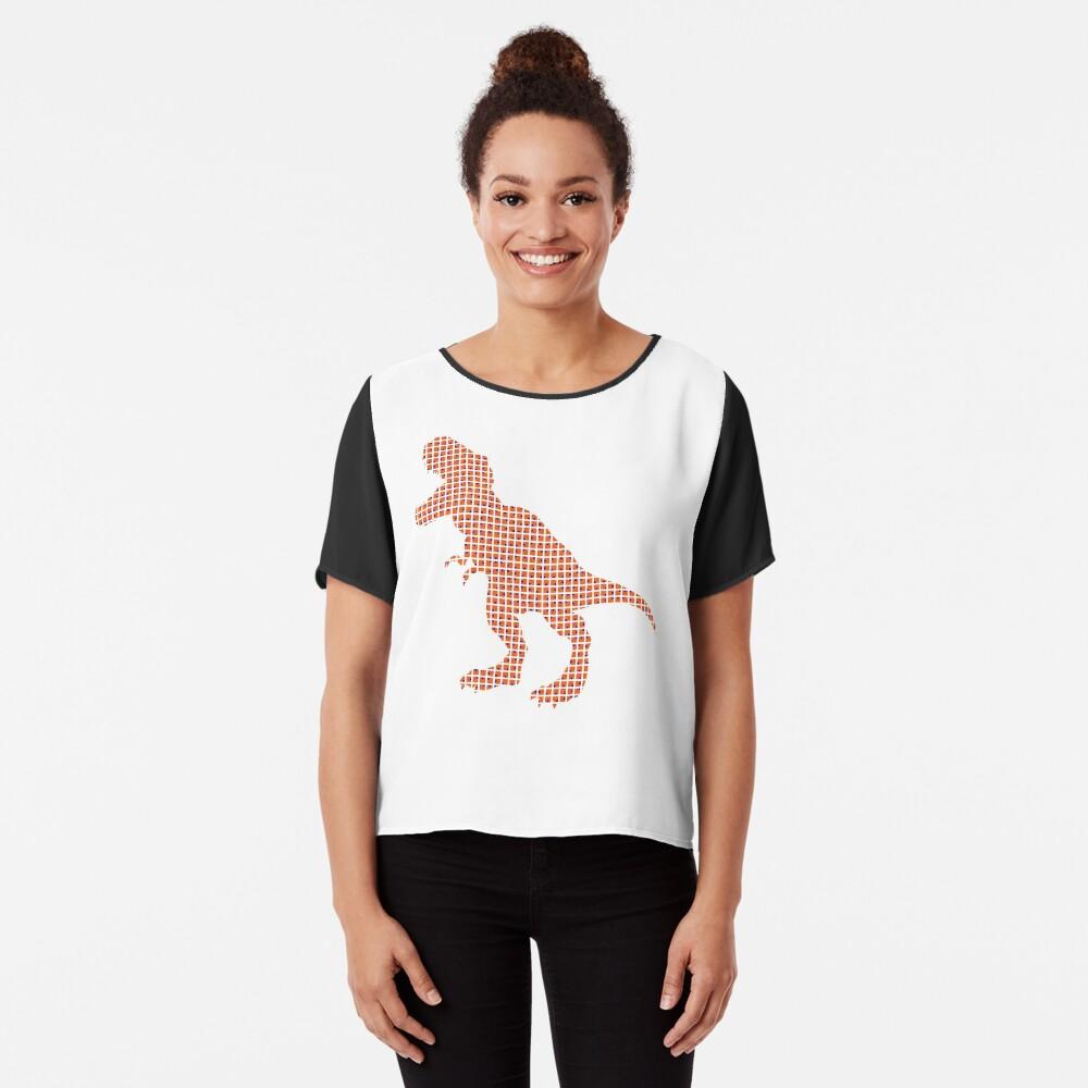 #Dinosaur, #animal #figure, line #art, tail, znamenski, point, symbol, illustration Chiffon Top