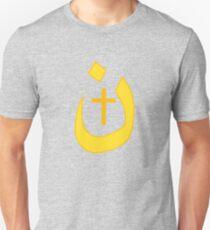 Christian Nazarene Symbol Solidarity and Cross Unisex T-Shirt