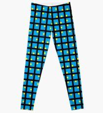 #Grid, #pattern, #design, #square, abstract, mosaic, tile, illustration, art Leggings