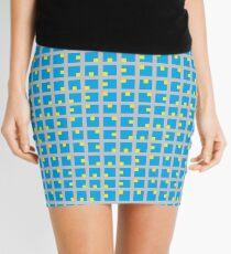 #Grid, #pattern, #design, #square, abstract, mosaic, tile, illustration, art Mini Skirt