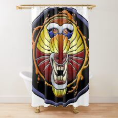 clan fire mandrill Shower Curtain