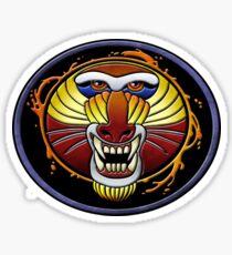 clan fire mandrill Glossy Sticker