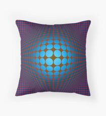 Victor Vasarely Homage Throw Pillow