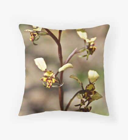 Flying Orchids Throw Pillow