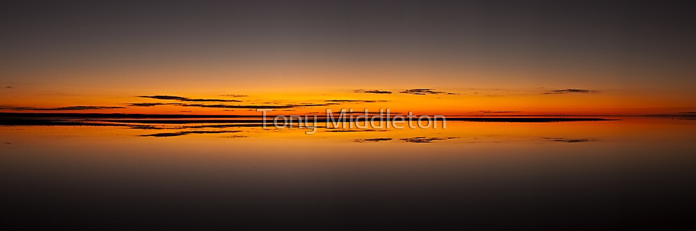 Infinity reflections - Lake Eyre by Tony Middleton