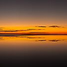 Infinity reflections - Lake Eyre by Tony Middleton