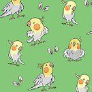 Cockatiels Pattern by tobiejade