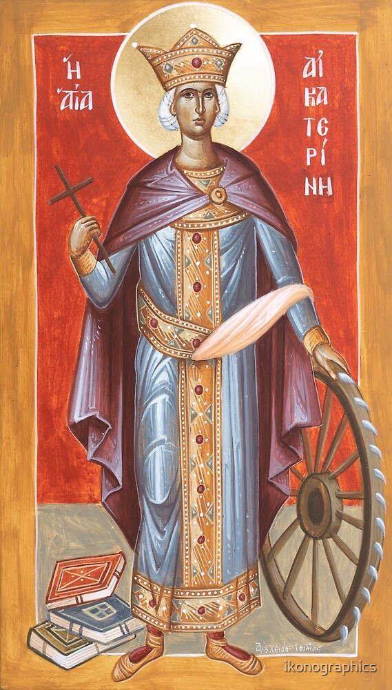 St Katherine of Alexandria by ikonographics