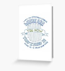 """Justin Bieber's """"Where Are You Now"""" Lyric Drawing Greeting Card"""